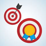 Flat illustration about achievement design Royalty Free Stock Images