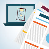 Flat illustration about achievement design Stock Images