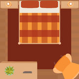 Flat illustration bedrooms with furniture Royalty Free Stock Photos
