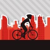 Flat illustration of bike lifesyle design, edita Stock Images