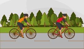 Flat illustration of bike lifesyle design, edita Stock Photo