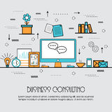 Flat illustration for Business Consulting concept. Stock Photos