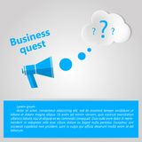 Flat illustration for Business quest Royalty Free Stock Photos