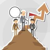 Flat illustration about businesspeople design , vector cartoon Stock Photos