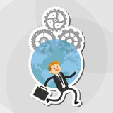 Flat illustration about businesspeople design , vector cartoon Royalty Free Stock Photo