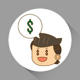 Flat illustration about businesspeople design , vector cartoon Royalty Free Stock Photos