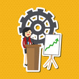 Flat illustration about businesspeople design , vector cartoon Stock Image