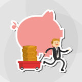 Flat illustration about businesspeople design , vector cartoon Royalty Free Stock Image