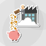 Flat illustration about businesspeople design , vector cartoon Stock Images
