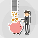Flat illustration about businesspeople design , vector cartoon Stock Photos