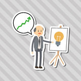 Flat illustration about businesspeople design , vector cartoon Stock Photo
