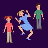 Flat illustration of children Stock Photo