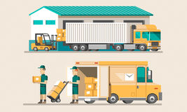 Flat illustration delivery concept. Royalty Free Stock Images