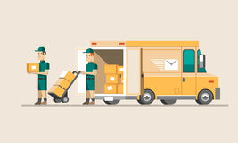 Flat illustration delivery concept. Flat vector illustration delivery concept Stock Photography
