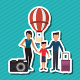 Flat illustration of family design, people icon Royalty Free Stock Images