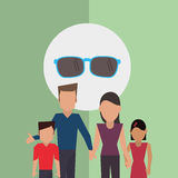 Flat illustration of family design, people icon Royalty Free Stock Photos