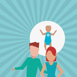 Flat illustration of family design, people icon Stock Image