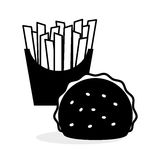 Flat illustration about fast food design Royalty Free Stock Image