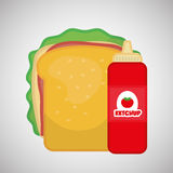 Flat illustration about fast food design Stock Photo