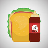 Flat illustration about fast food design Stock Image
