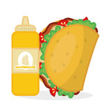 Flat illustration about fast food design Stock Images
