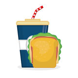 Flat illustration about fast food design Stock Photography