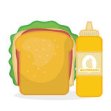 Flat illustration about fast food design Royalty Free Stock Photo