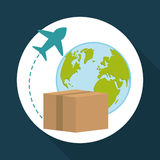 Flat illustration of free delivery design , editable vector Stock Photography