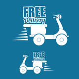 Flat illustration of free delivery design , editable vector Royalty Free Stock Photos