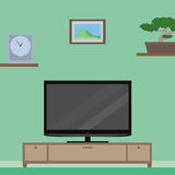Flat Illustration with furniture Stock Photography