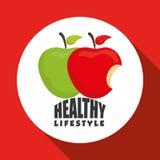 Flat illustration of healthy lifestyle design Stock Photo