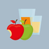 Flat illustration of healthy lifestyle design Royalty Free Stock Photography