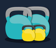 Flat illustration of healthy lifestyle design Stock Photography