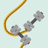 Flat illustration of healthy lifestyle design Stock Image
