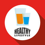 Flat illustration of healthy lifestyle design Stock Photo