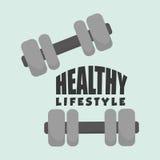 Flat illustration of healthy lifestyle design Royalty Free Stock Photos