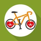 Flat illustration of healthy lifestyle design Stock Photos