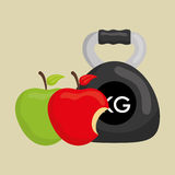 Flat illustration of healthy lifestyle design Royalty Free Stock Image