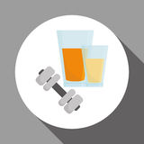 Flat illustration of healthy lifestyle design Royalty Free Stock Photo
