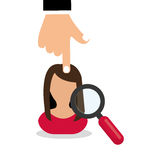 Flat illustration about Human resources Stock Photo