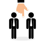 Flat illustration about Human resources Stock Image