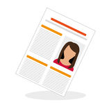 Flat illustration about Human resources Royalty Free Stock Photo