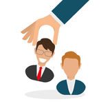 Flat illustration about Human resources Royalty Free Stock Image