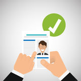 Flat illustration about Human resources Royalty Free Stock Images