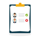 Flat illustration about Human resources Stock Images
