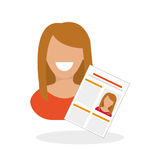 Flat illustration about Human resources Royalty Free Stock Photography
