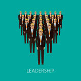 Flat illustration of a leader and a team. a group of men Royalty Free Stock Photography