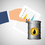 Flat illustration about Oil price, petroleum and gas concepts Stock Image