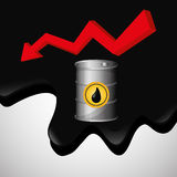 Flat illustration about Oil price, petroleum and gas concepts Royalty Free Stock Images
