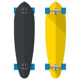 Flat illustration of oval longboards Royalty Free Stock Photography